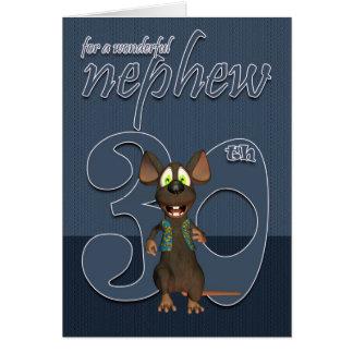 Sobrinho - rato do cartão de aniversário de 30 ano