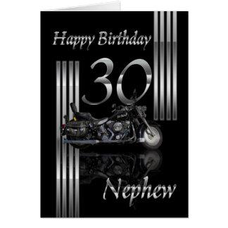 Sobrinho - velomotor do cartão de aniversário de