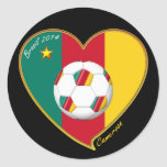 "Soccer ""CAMEROON"" FOOTBALL Team, Fútbol de Camerún Adesivo"
