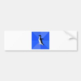 Social-Inábil-Pinguim-Meme Adesivo Para Carro