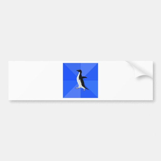 Social-Inábil-Pinguim-Meme Adesivos