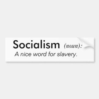 Socialismo, (substantivo): , Palavra agradável de  Adesivo Para Carro