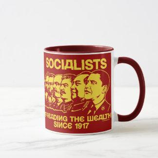 Socialistas: Espalhando a caneca da riqueza