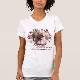 Socialize o trem educam Pitbull Camiseta