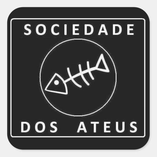 Sociedade Dos Ateus Adesivo Quadrado