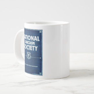 Sociedade nacional do sarcasmo caneca de café grande