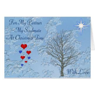 Sócio/Soulmate do cartão de Natal