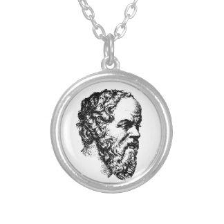 Socrates: O homem Colar Com Pendente Redondo