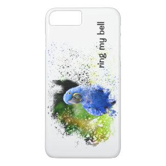 SOE MINHA capa de telefone azul da arte do Macaw