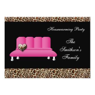 sofá cor-de-rosa chique, convite de festas