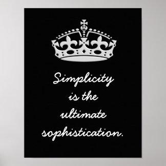 Sofisticação final da simplicidade -- Impressão da