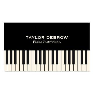 Sofisticado moderno preto & branco do teclado de cartão de visita