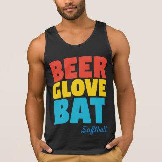 Softball do bastão da luva da cerveja