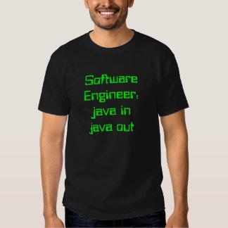 Software Engineer: java em java para fora Tshirts