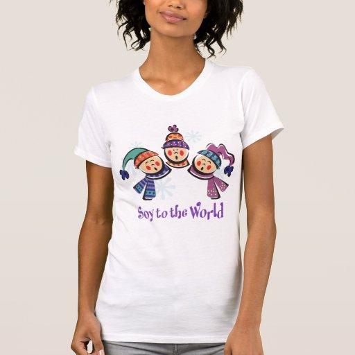 Soja ao feriado do mundo tshirt