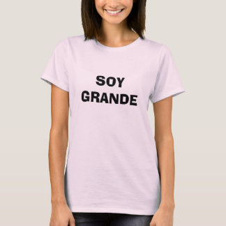Soja grandioso camiseta