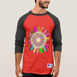SOL CHAKRA da camisa da luva do Raglan 3/4 do camp Camisetas