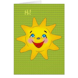 Sol feliz - modelo do cartão