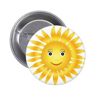 Sol sorriso bóton redondo 5.08cm