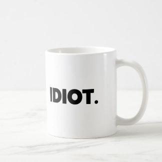 Soldado adulto ofensivo rude da novidade do idiota caneca de café