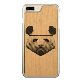 Soldado da panda capa iPhone 8 plus/ 7 plus carved