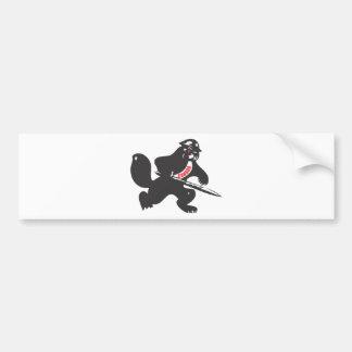 Soldado do castor adesivo