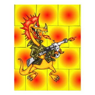 Soldado do dragão modelo de panfleto