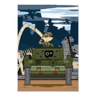Soldado do exército britânico e cartão da cena convite 8.89 x 12.7cm