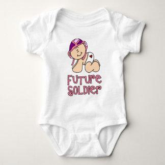 Soldado do futuro da menina camisetas