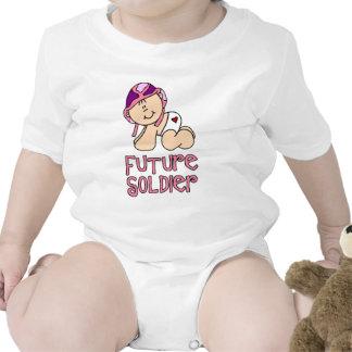 Soldado do futuro da menina macacãozinhos para bebê