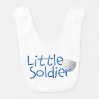Soldado pequeno babador infantil