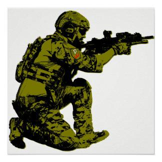 Soldado polonês da liberdade pôster