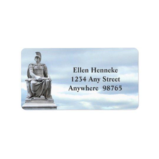 Soldado romano etiqueta de endereço