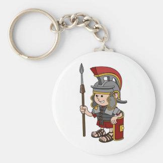 Soldado romano chaveiros
