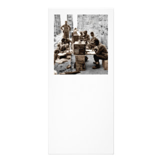 Soldados da máquina da transcrição 10.16 x 22.86cm panfleto