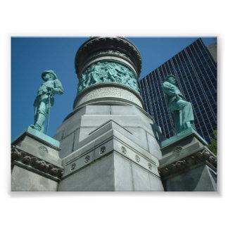 Soldados e búfalo NY do monumento dos marinheiros Impressão De Foto