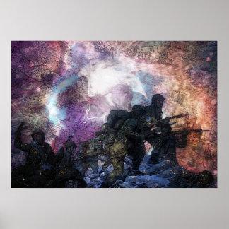 Soldados psicadélicos poster