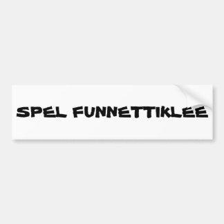 Soletração irónica de fonético adesivo
