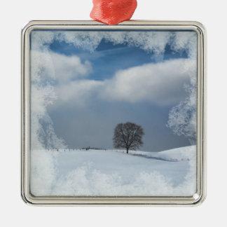 Solidão do inverno dos enfeites de natal