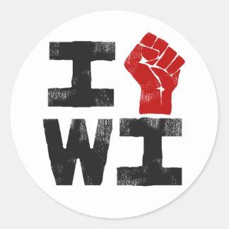 Solidariedade de Wisconsin Adesivo