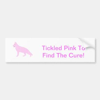 Sólido cor-de-rosa do german shepherd adesivo