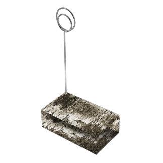 Solstício de inverno suportes para cartão de mesa