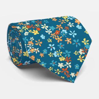 Solteiro-side floral da cerceta do ponto da gravata