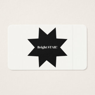 Solução do design da empresa das meninas/estrela cartão de visitas