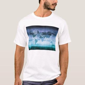 Soluções globais da tecnologia no Internet Camiseta