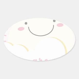 solzinho adesivo oval
