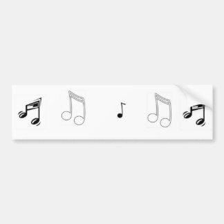 Som da música adesivo