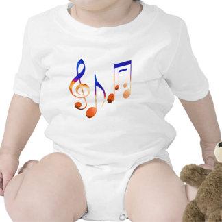 Som da música - símbolos da dança macacãozinhos para bebê