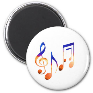 Som da música - símbolos da dança ímã redondo 5.08cm