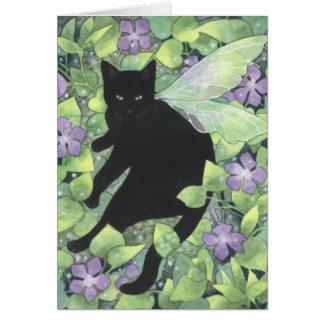 Sombra da pervinca - cartão feericamente da arte